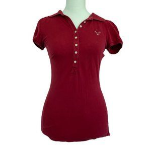 American Eagle Red Polo Shirt